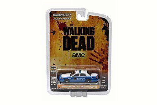 Walking Dead 2001 Ford Crown Victoria Police Interceptor - Greenlight 44730 - 1/64 Scale Diecast Model Toy Car by Greenlight