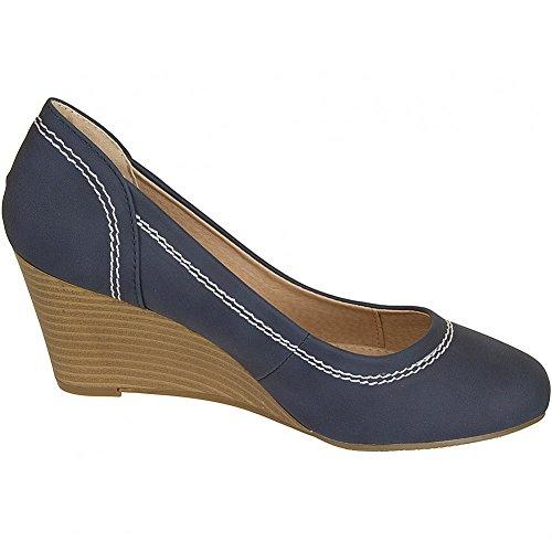 Refresh Women Ballerinas Flat Pumps Blue