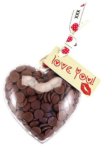 "Heart - ""Love You!"" Chocolate Valentines Heart. From the Belgian Milk Chocolate 'ButtonChocs' range."