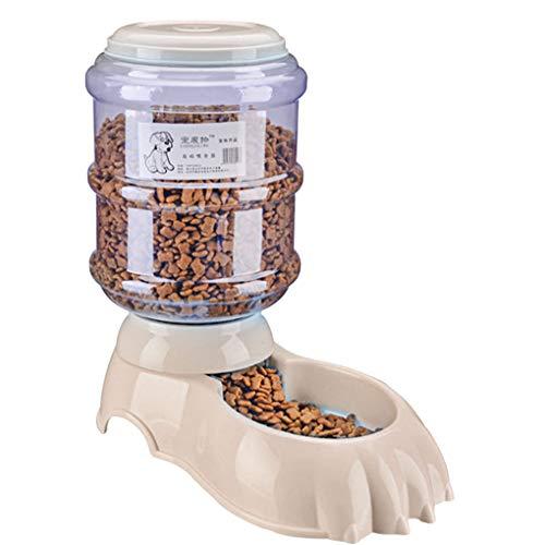 lindahaot 3.8L Pet automatische Nahrungsmittelzufuhr-Haustier-Wasser-Brunnen-Zufuhr Wasser Lebensmittel-Dispenser Easy Control