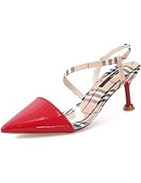 GTVERNH Moda Scarpe da donna 7Cm Scarpe con Tacchi Alti Estate Colore Sexy E  Sottile Moda Sharp Semplice con Una Parola con Scarpe da… ee6d3224c41