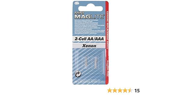 Maglite Lm2a001 Xenon Scheinwerferbirne 2 3 V 0 9 W In Blisterverpackung 2 Stück Gewerbe Industrie Wissenschaft