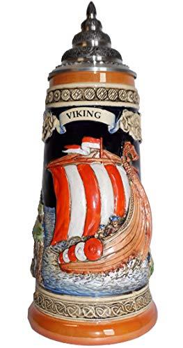 King Jarra de Cerveza Alemana Barco Vikingo, Jarra 0,5 litros