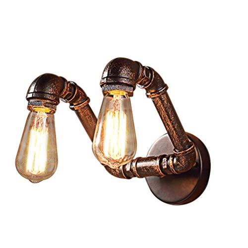 Bin double-headed retro tubo d'acqua lampada da parete, e27 parete interna decorazione illuminazione, fonte di luce