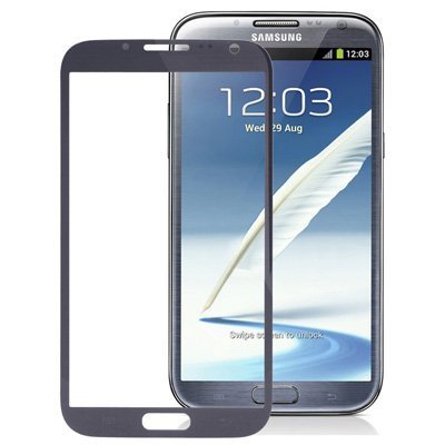 Ersatzglas Austausch Touch Front Display Glas Scheibe für Samsung Galaxy Note 2 II N7100 N7105 LTE Glass Window Schwarz (Note Digitizer 2 Samsung)