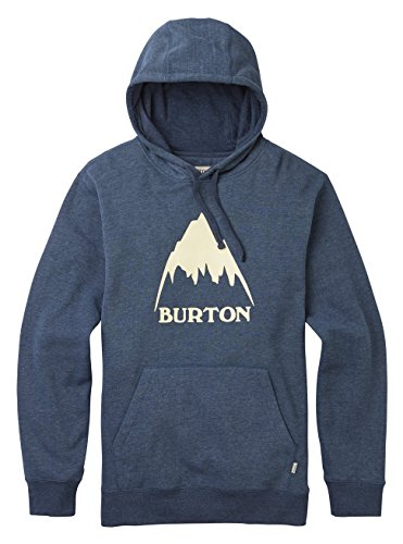 Burton Herren Classic Mountain High Pullover Hoodie Kapuzenpullover, Mood Indigo Heather, L