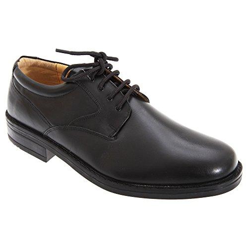 39949259 Roamers - Zapatos Lisos de Piel con Cordones Modelo Flexi Diseño Gibson Hombre  Caballero - Vestir