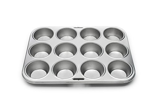 Fox Run 4631 Tin-Plated Steel Muffin-Backform, Silber