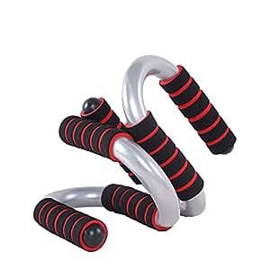 Pratique Paire de s Push Up Bars pour Home Fitness, noir et rouge