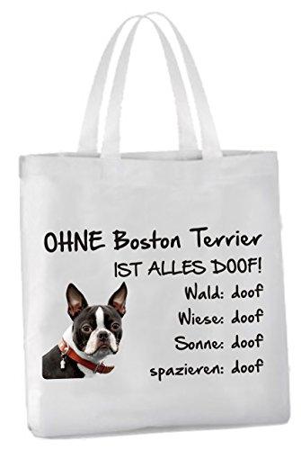 AdriLeo Einkaufstasche Ohne Boston Terrier ist Alles doof!