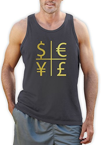 Hip Hop Money Cross Dunkelgrau X-Large Tank Top (Tank Champ T-shirt Top)