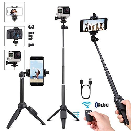 Handy stativ,iPhone Stativ,stativ für Smartphone,mit Handy Halterung und Bluetooth Fernbedienung Handy Stativ für iPhone Samsung und Kamera