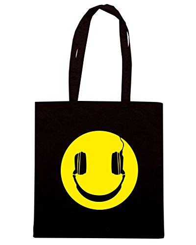 T-Shirtshock - Borsa Shopping OLDENG00659 sound smile Nero