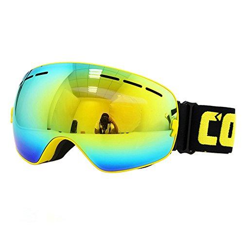 VOBAGA Premium Occhiali da sci snowboard motoslitta Occhiali Occhiali REVO Anti nebbia Prescrizione ottica sferica lenti UV Protection Unisex Adult neve Goggle