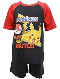 """Pokemon Boys """"Listo para la batalla Pikachu"""" Shortie Style Pijamas"""