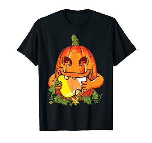 Kürbis Candy Corn Jack O Laterne Gruselig Halloween-Kostüm T-Shirt (Nerd Candy Kostüm)