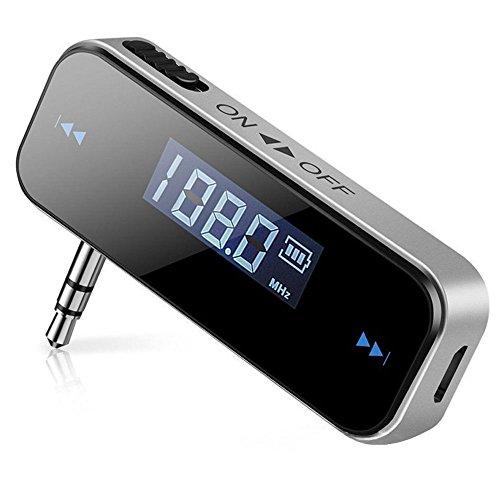 Auto FM Transmitter,Mini Auto Radio Radioempfaenger mit 3,5-mm-Aux-Port,87,5-108 MHz Sendefrequenzbereich,Audio Player Stereo System Für iPhone, IPad, IPod,Android Handys -
