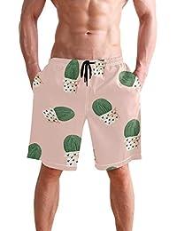 4760976116 BENNIGIRY Men's Cactus Swim Trunks Beachwear Summer Holiday Beach Shorts  Quick Dry