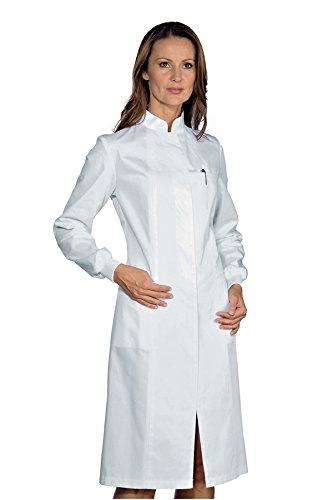 Isacco Camice Ponza Bianco, Bianco, M, 100% Cotone, Polso in Maglia