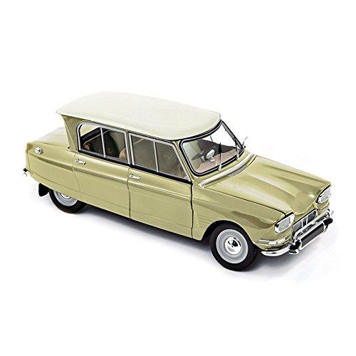 norev-nv181535-escala-118-1964-citroen-ami-6-amarillo-de-napoles-modelo-de-coche