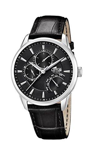 Lotus Watches Homme Multi-Cadrans Quartz Montre avec Bracelet en Cuir 15974/A