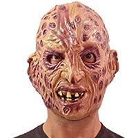 Maschera horror in gomma Freddy Krueger bruciature adulto