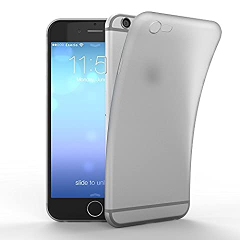 esorio® Apple iPhone 6 6S Hülle Ultra Slim in weiss transparent