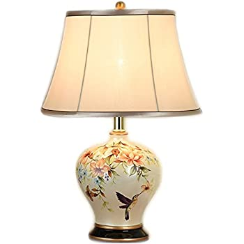 Uks largest range of oriental lamps large oriental ceramic table npz modern chinese style ceramics light body cloth lampshade e27 button switch table lamp bedroom decorated table lamp color a aloadofball Image collections
