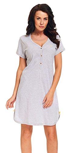 DN, Nachthemd, TM.9301, Grey-Melange, Gr. S -