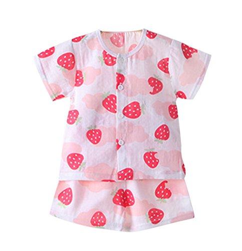 Neugeborenes Baby-Sets, Kinder weicher Baumwolle Print Cartoon T-Shirt Tops + elastische Shorts