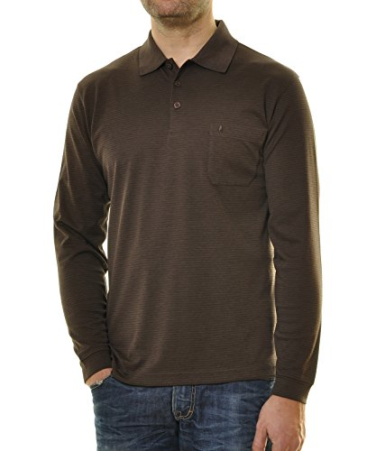 RAGMAN Herren Poloshirt Easy Care Mokka-083