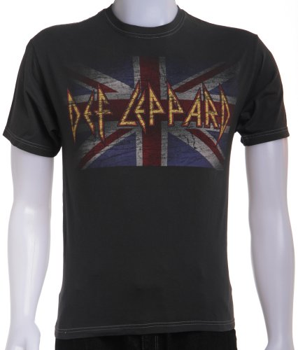 Def Leppard Vintage Union Jack T-shirt for Men. M to XL