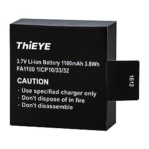 ThiEYE Original Rechargeable Spare Battery 1100mAH 3.7 V Li-ion T5e / E7 / T5 Edge Action Camera