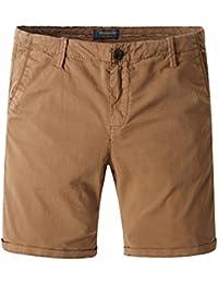 Nuofengkudu Hombre Pantalones Cortos Algodón Bermuda con Cremallera Bolsillos Slim Fit Pantalones Cortos de Carga para el…