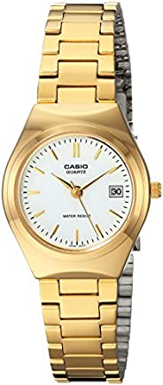 Casio Women's White Dial Stainless Steel Analog Watch - LTP-1170N-7