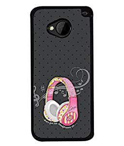 FUSON Designer Back Case Cover for HTC M7 :: HTC One M7 (Art Classic Guitar Hobby Instrument )