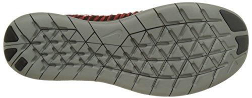 Nike Uomo Free Rn Flyknit Scarpe Running Rosso (Team Red/Black Total Crimson Dark Grey)