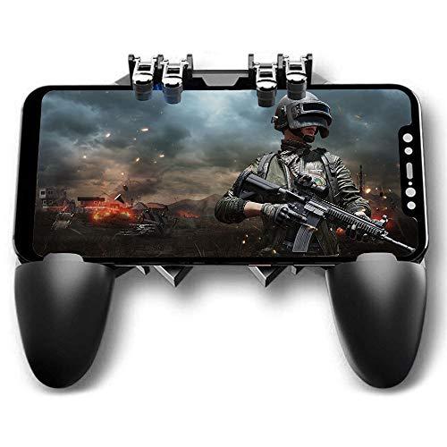 Ozkak Contrôleur de Jeu Manette Telephone Portable 6 Doigts Mobile Gamepad Joystick Universel L1R1...