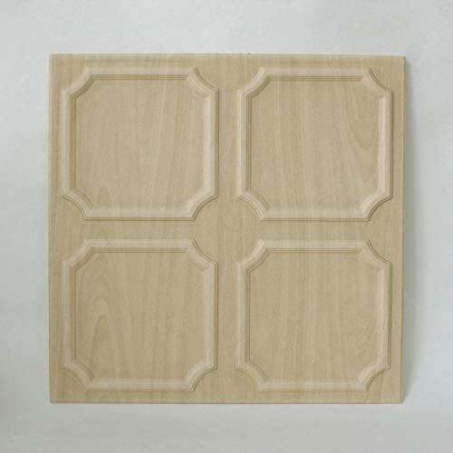 DECOSA Deckenplatten SALZBURG in Holz Optik - 8 Platten = 2 m2 - Deckenpaneele in Birke Dekor - Decken Paneele aus Styropor - 50 x 50 cm - B-Ware - Eiche Wand-platte