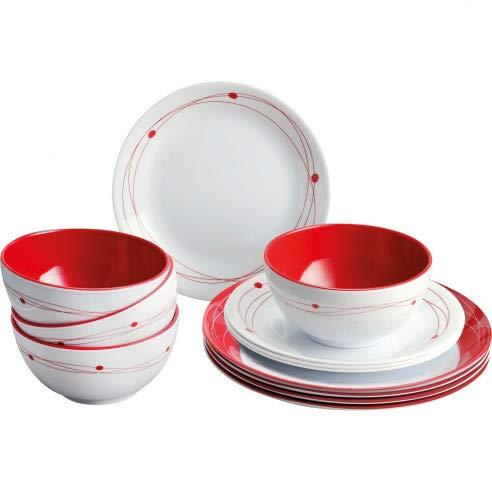 BRUNNER Pack vaisselle mélamine Cosmic 12 pieces