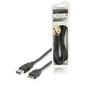 HQ HQB-082-1.8 Câble USB 3.0 USB A Mâle Vers Micro USB B Mâle 1,80 m