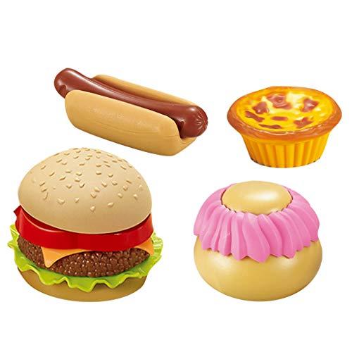 Hffan Kinder Kochen Küche Rollenspiel Spielzeug, Simuliertes Frühstück Burgerplatte Mini Spielset Puppenhaus Kinder Spielzeug Küchenset Mädchen Rollenspiele Kinderspielhaus Spielzeug (Halloween Barbie Kuchen)