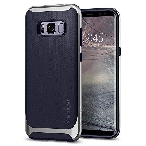 Spigen Neo Hybrid Samsung Galaxy S8 Hülle (565CS21600) Zweiteilige Handyhülle Silikon TPU Schale mit PC Bumper Schutzhülle Case (Silver Arctic)