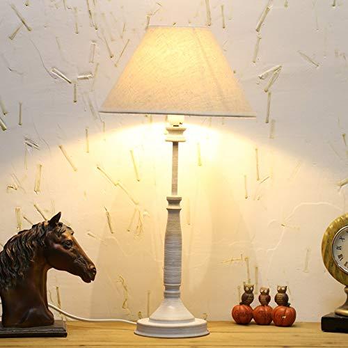OUSENR Tischleuchte Vintage Led-Lampenhalterung Tabelle Lampen Sockel Leichte Stoff Lampenschirm...