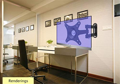 Bracket Haushalts-Wandhalter, LCD-Fernsehwand-Zahnstangen Universeller drehender vertikaler Schirm-Computer LCD-Monitor-Klammer Multifunktions-Kipphebel 14-24 Zoll, Wand-hängende Klammer