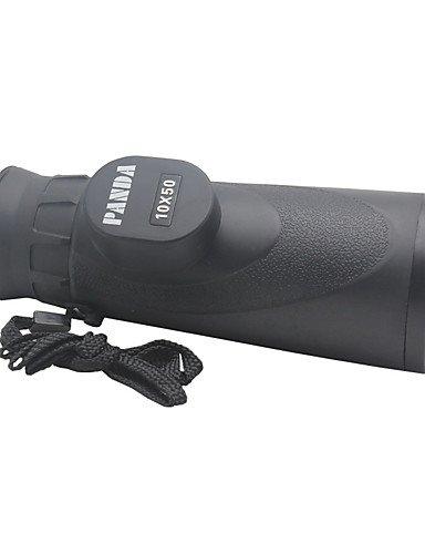 PIGE Panda 10X50 Wasserdicht Monocular-Teleskop w / Hohe Auflösung Große Okulare - Schwarz (Große Blende Teleskop)