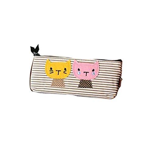 Ben-gi Katzen-Muster Tragbare Mini-Tasche-Feder-Kasten-Bleistift-Kasten-Beutel für Studenten - Mini-bleistift-kasten