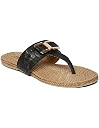 PARAGON SOLEA Plus Women's Black Flip-Flops