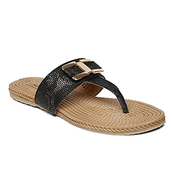 2f2459469881 SOLEA Plus Black Flip-Flops from PARAGON
