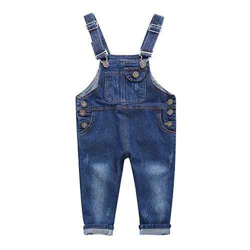 De feuilles Toddler Baby Boys Girls Dungarees Denim Jeans Bib Overalls Jumpsuit